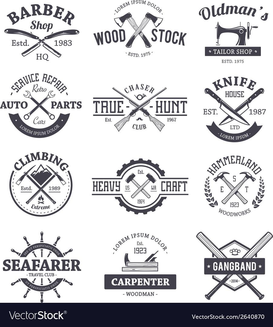 Crafts Emblems 1 vector image