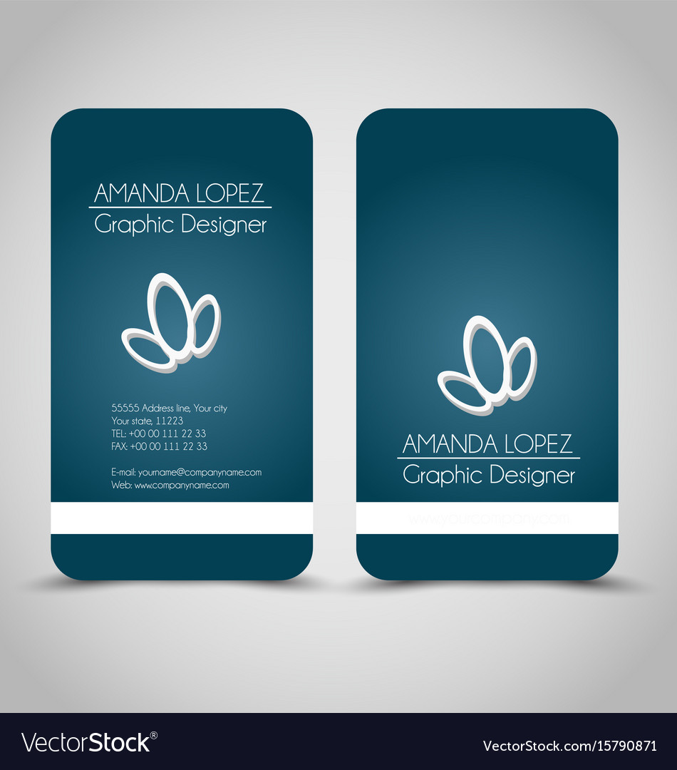Business card set template royalty free vector image business card set template vector image reheart Images
