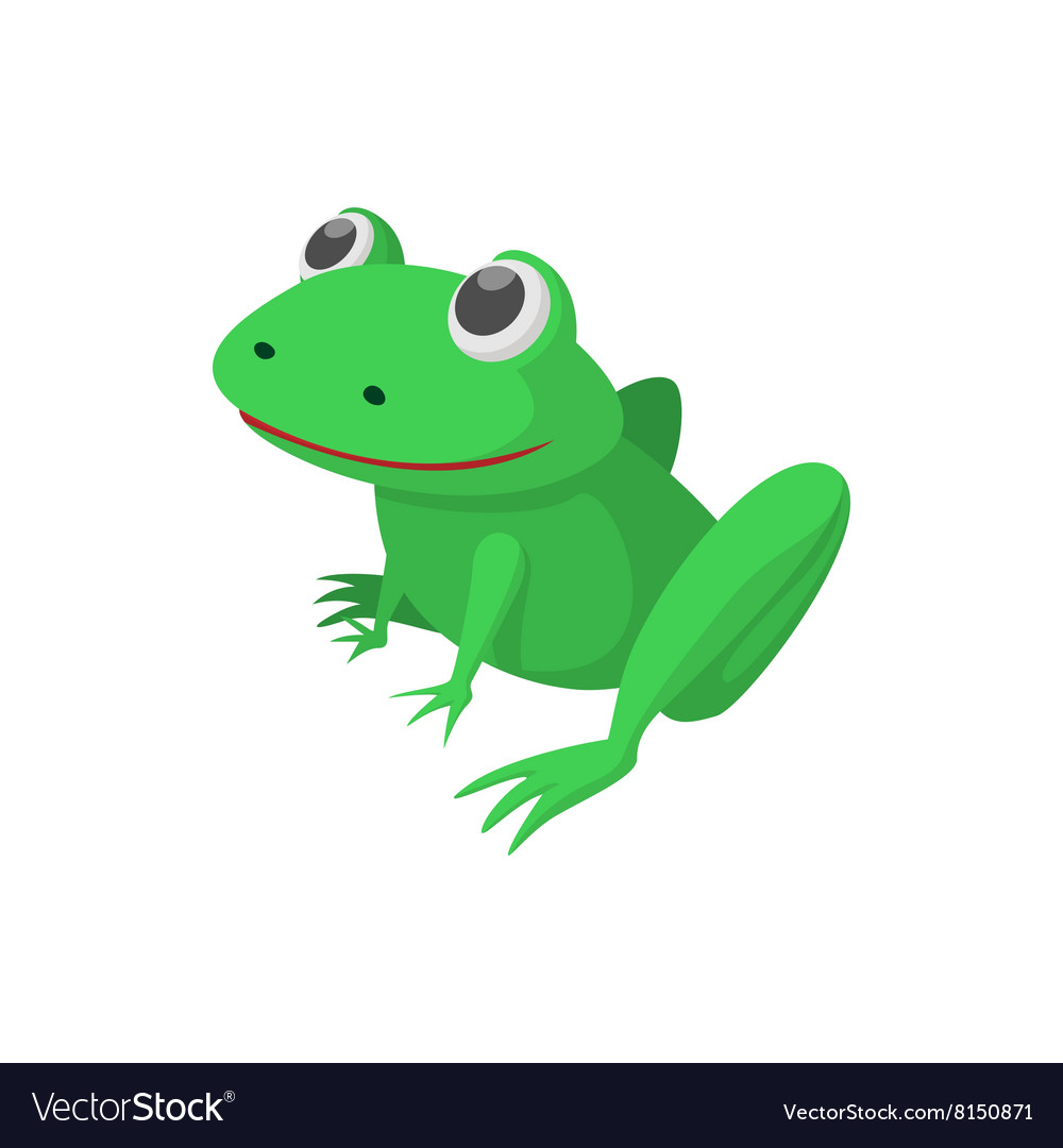 Frog icon cartoon style vector image