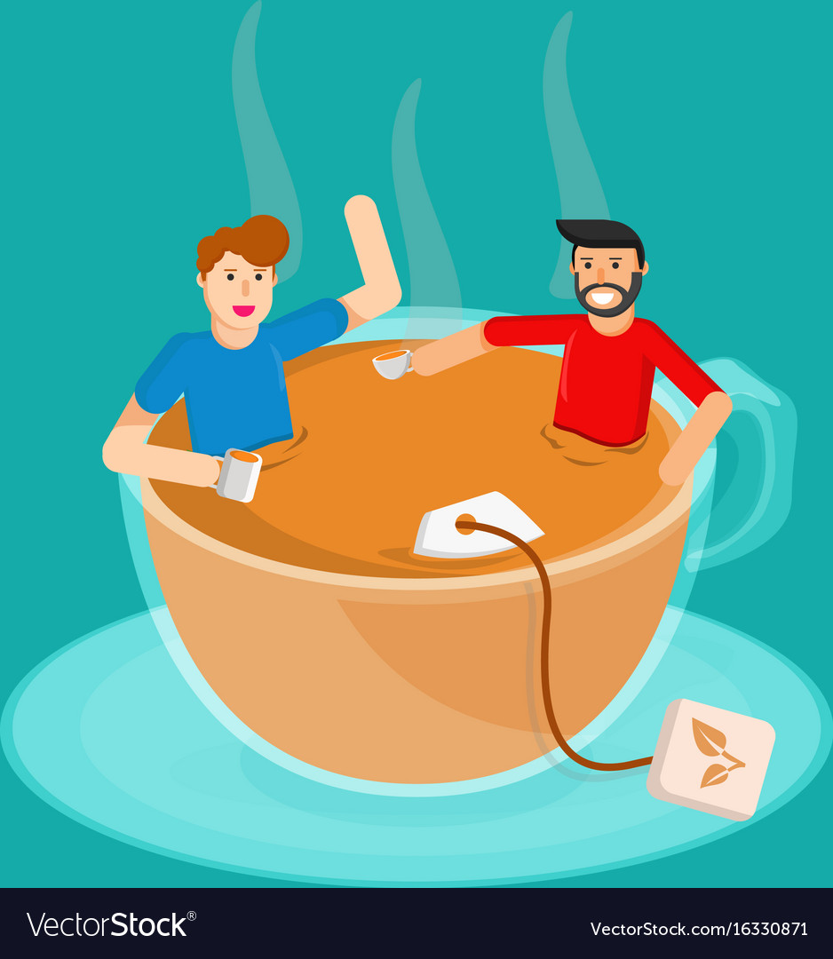 Meeting tea vector image