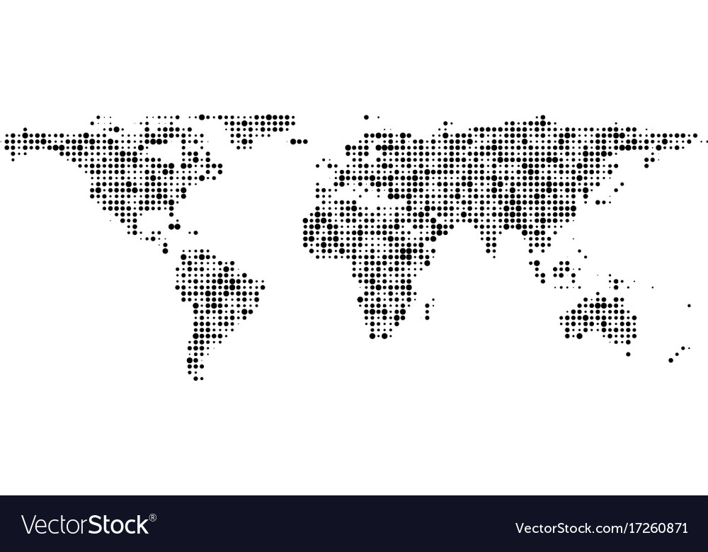 World map of black dots banner royalty free vector image world map of black dots banner vector image gumiabroncs Images