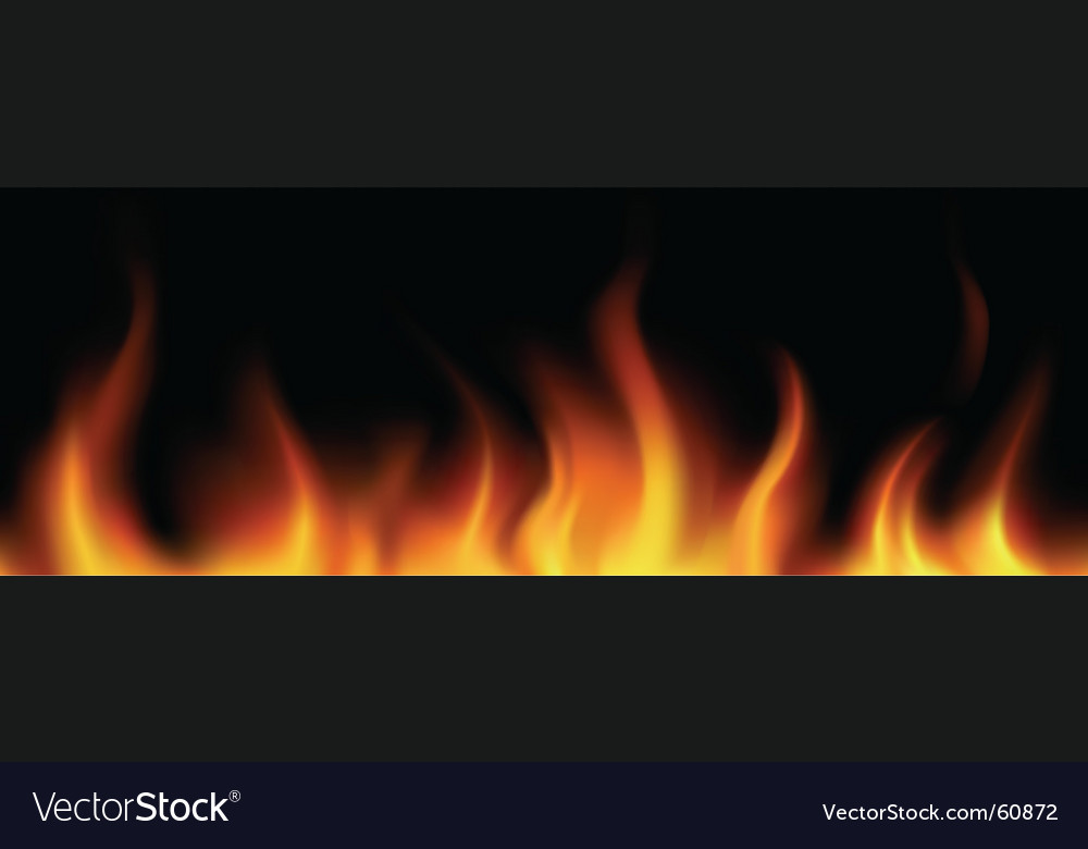 Flame border vector image