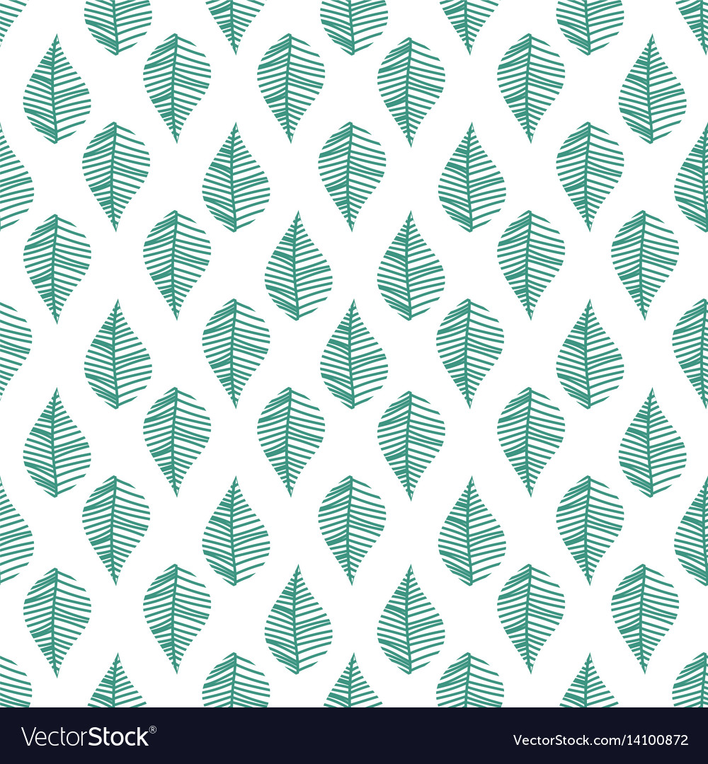 Abstract leaves seamless pattern vector image