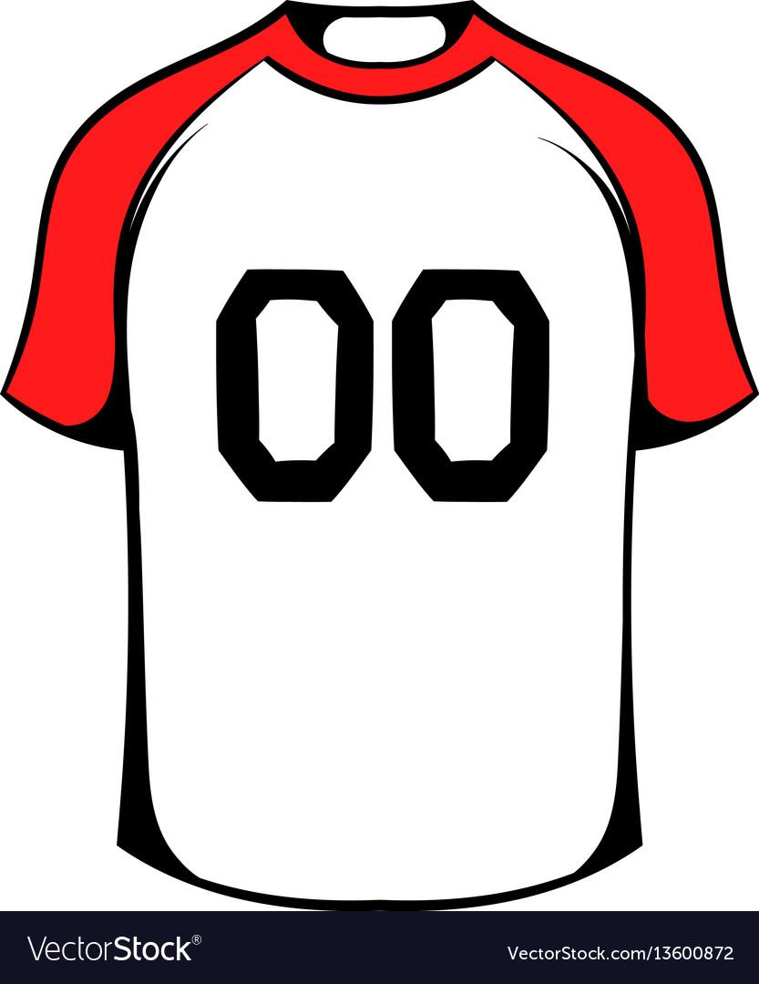 Hockey sweater icon icon cartoon vector image