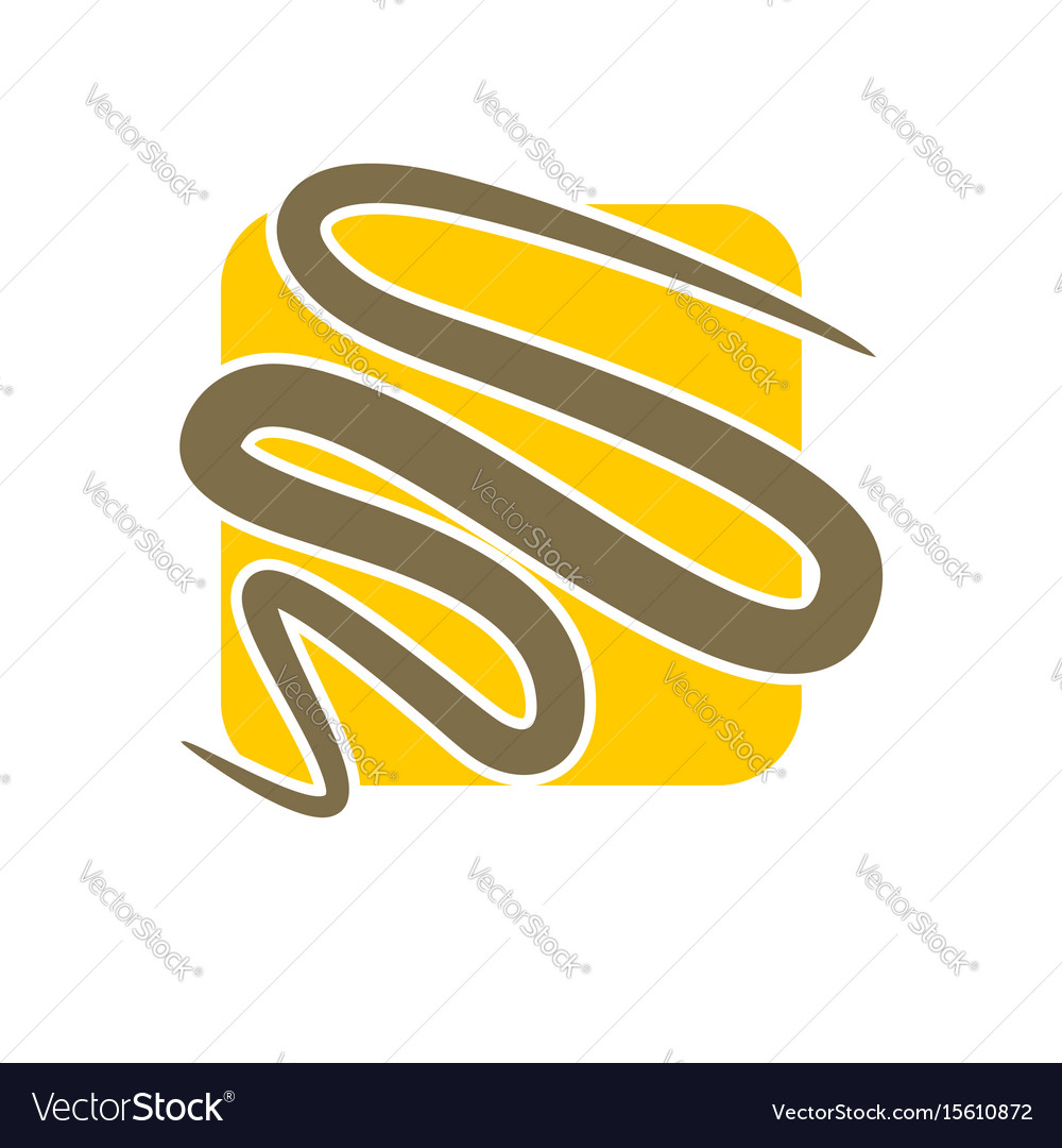 Line in square abstract logo emblem for company vector image