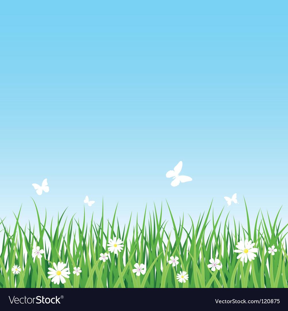 Seamless grassy field vector image