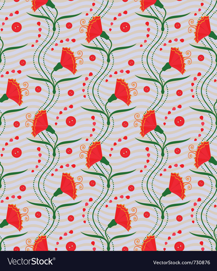 Carnations - seamless pattern vector image