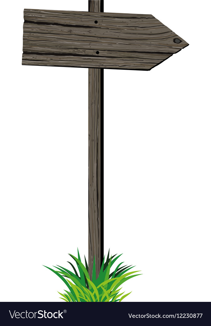 Wooden signboard pointer vector image