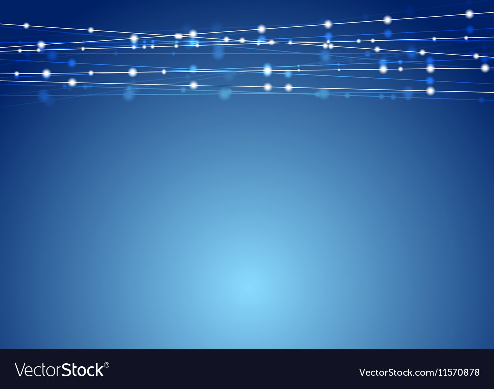 Abstract blue shiny Christmas garland decoration vector image