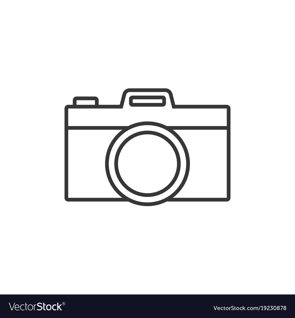 camera simple outline icon vector image - Simple Outline Pictures