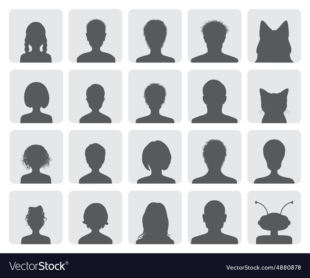 Set of avatars vector image