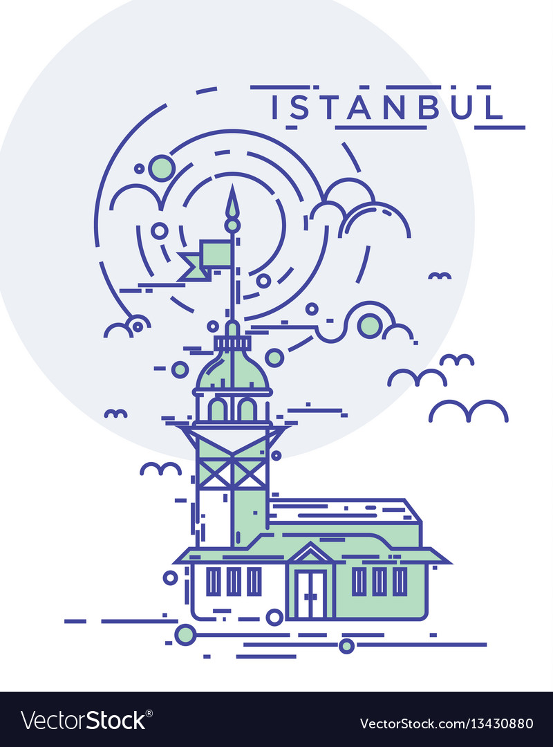 Maiden tower istanbul vector image