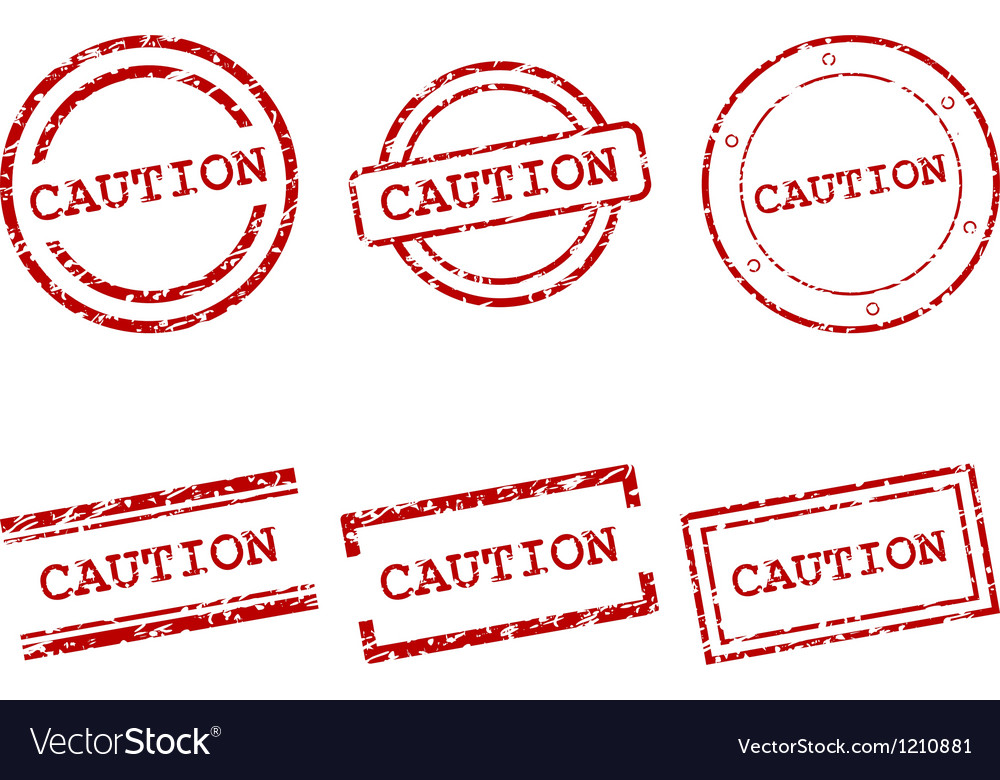Caution stamps vector image