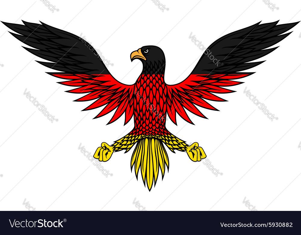 German eagle bird in flag colors vector image