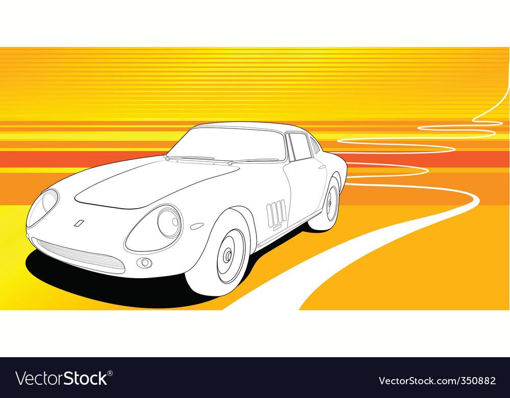 Sport car vector image