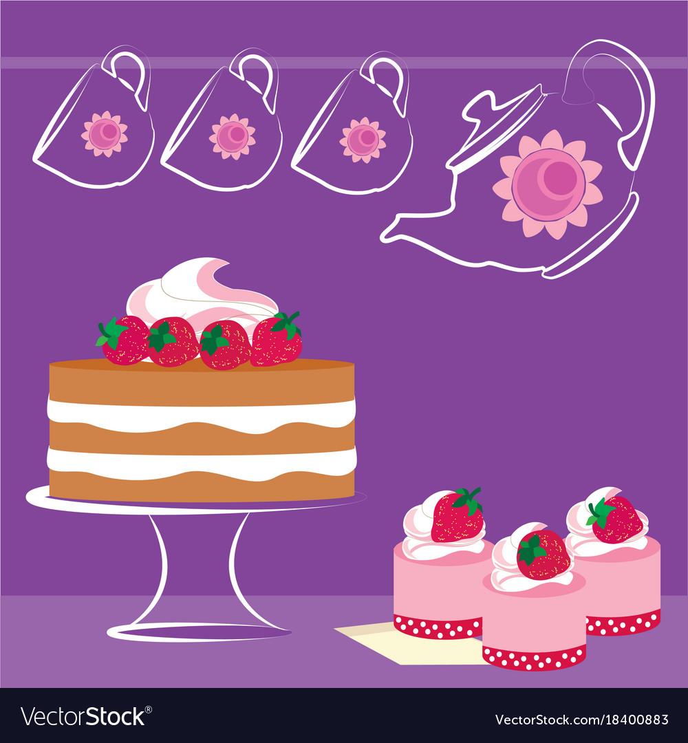 Background desserts vector image