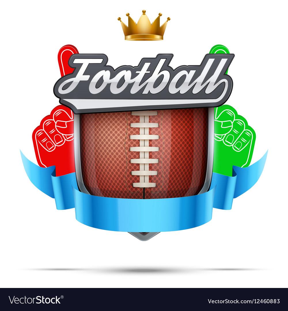 Premium symbol of American Football label vector image