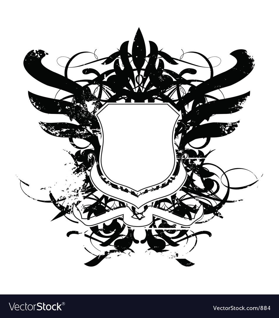 Heraldry shield grunge vector image