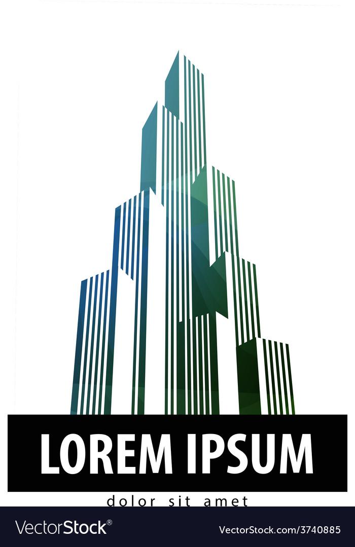 City logo design template building or vector image