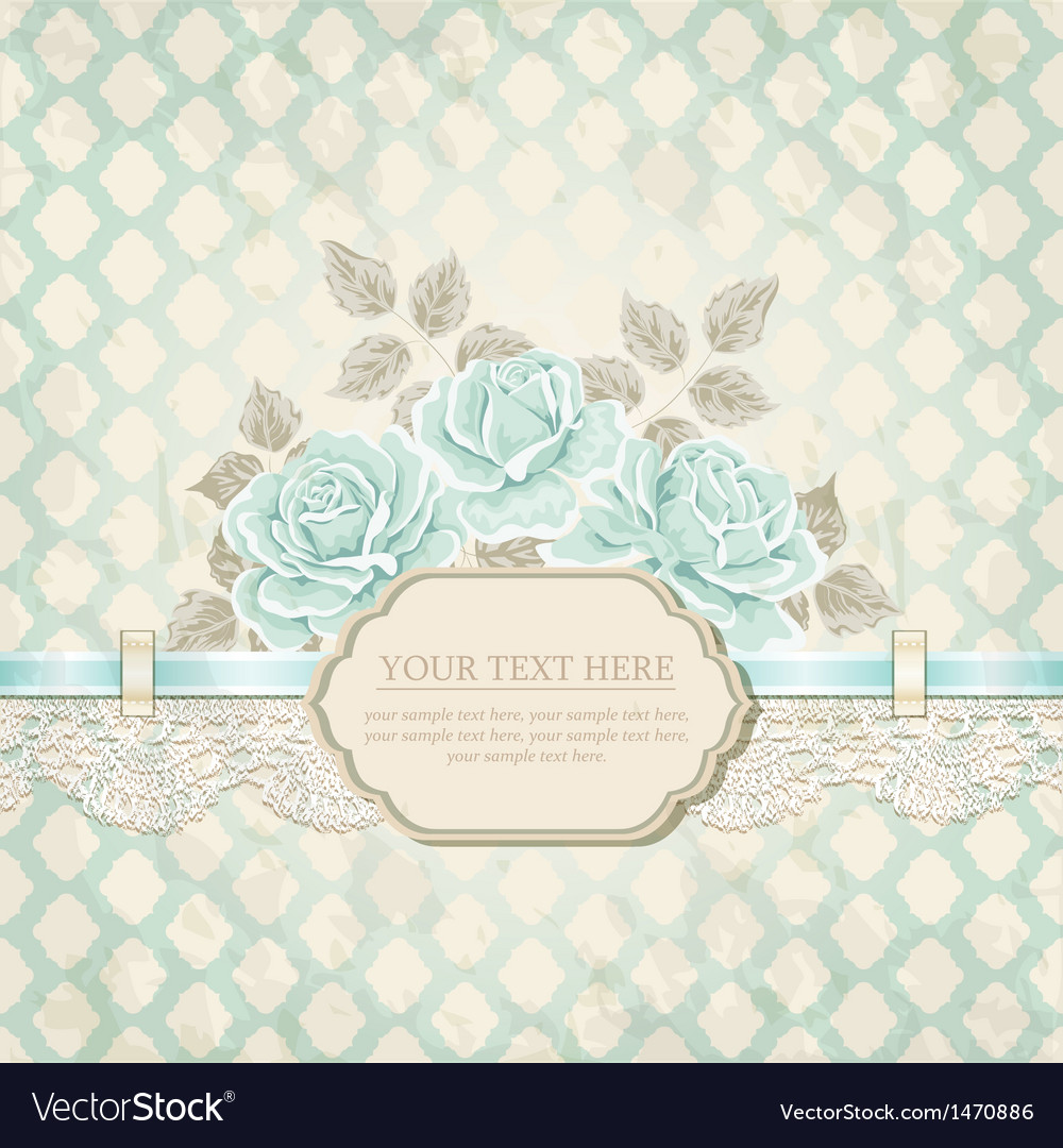 Vintage background with roses vector image