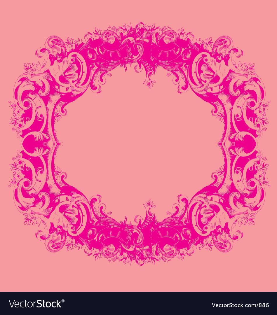 Baroque mirror Vector Image