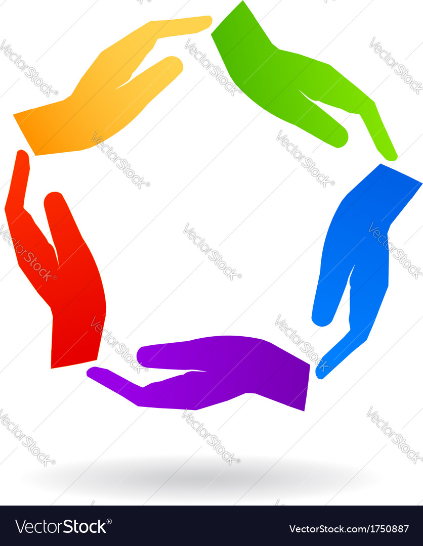 United Hands Logo vector image