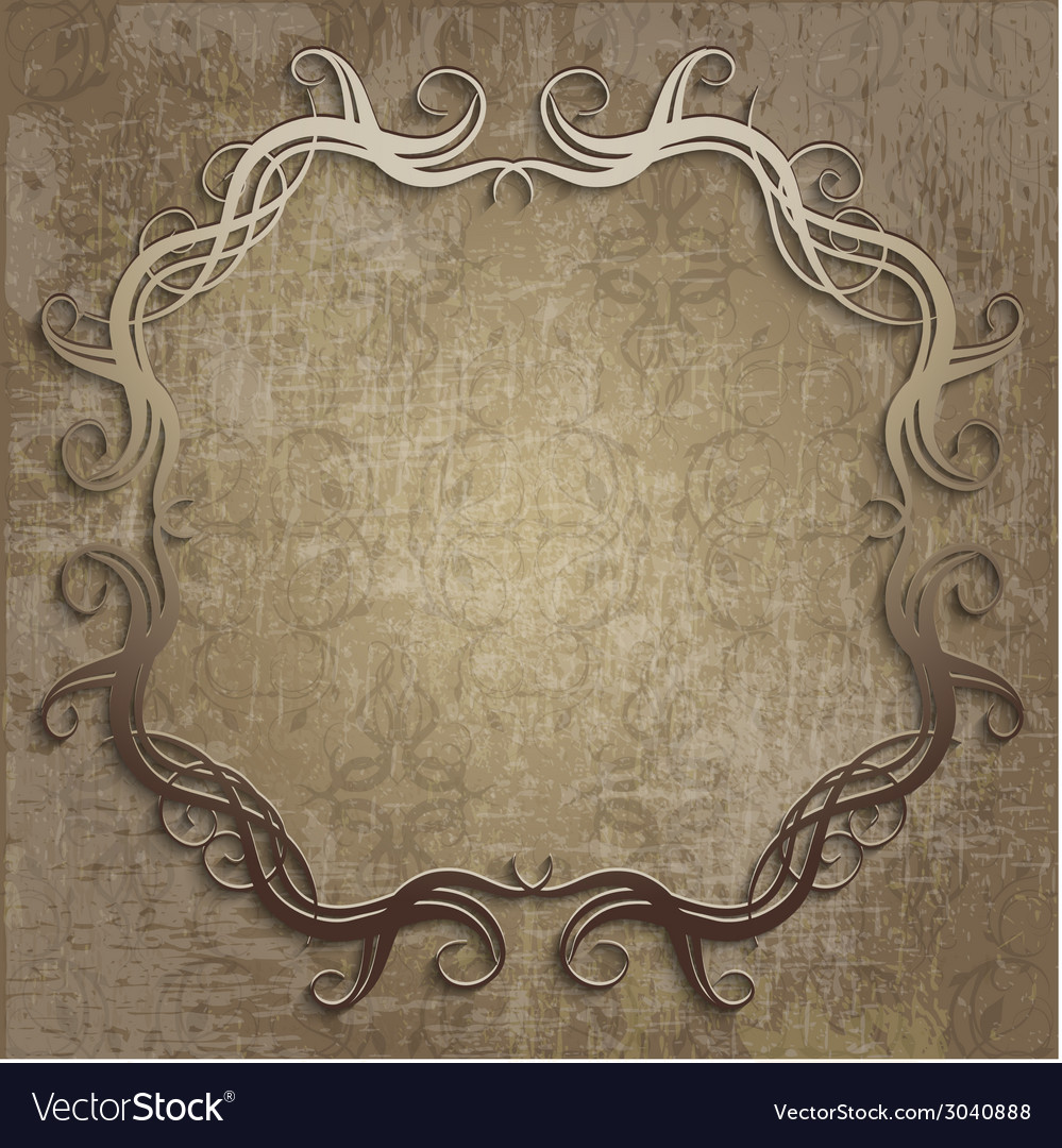 Beautiful frame on vintage background vector image