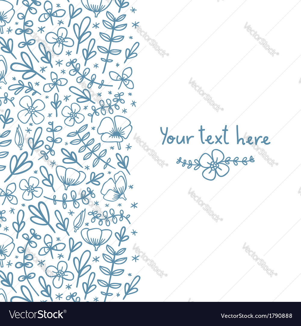 Florals on the background vector image