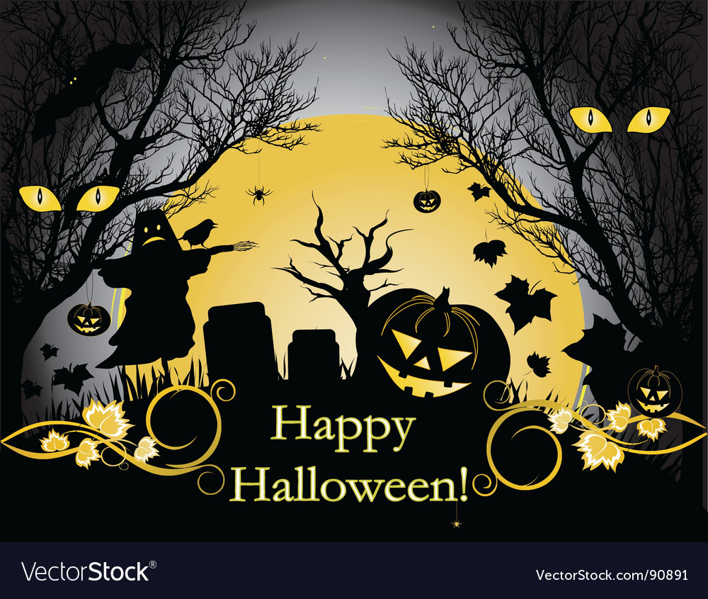 Halloween background Royalty Free Vector Image