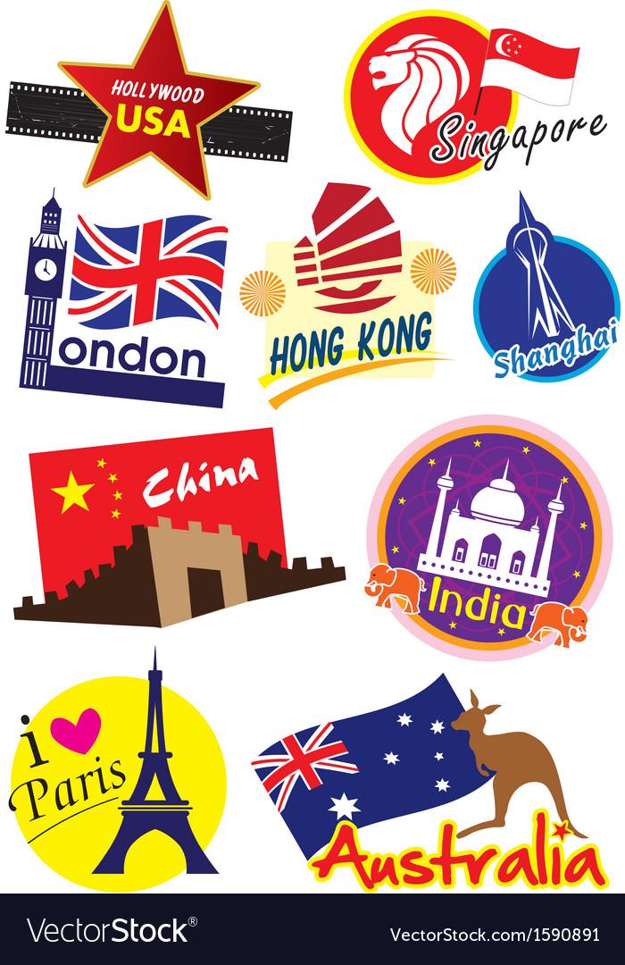 Travel Sticker vector image