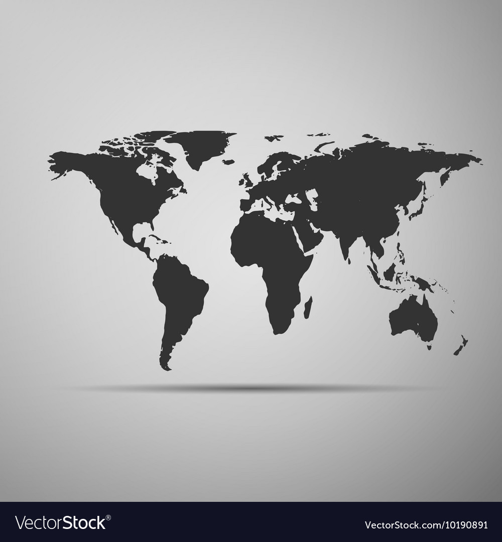 World map icon on grey background adobe royalty free vector world map icon on grey background adobe vector image gumiabroncs Images