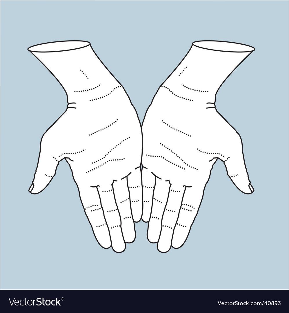 Helping hands illustration vector image