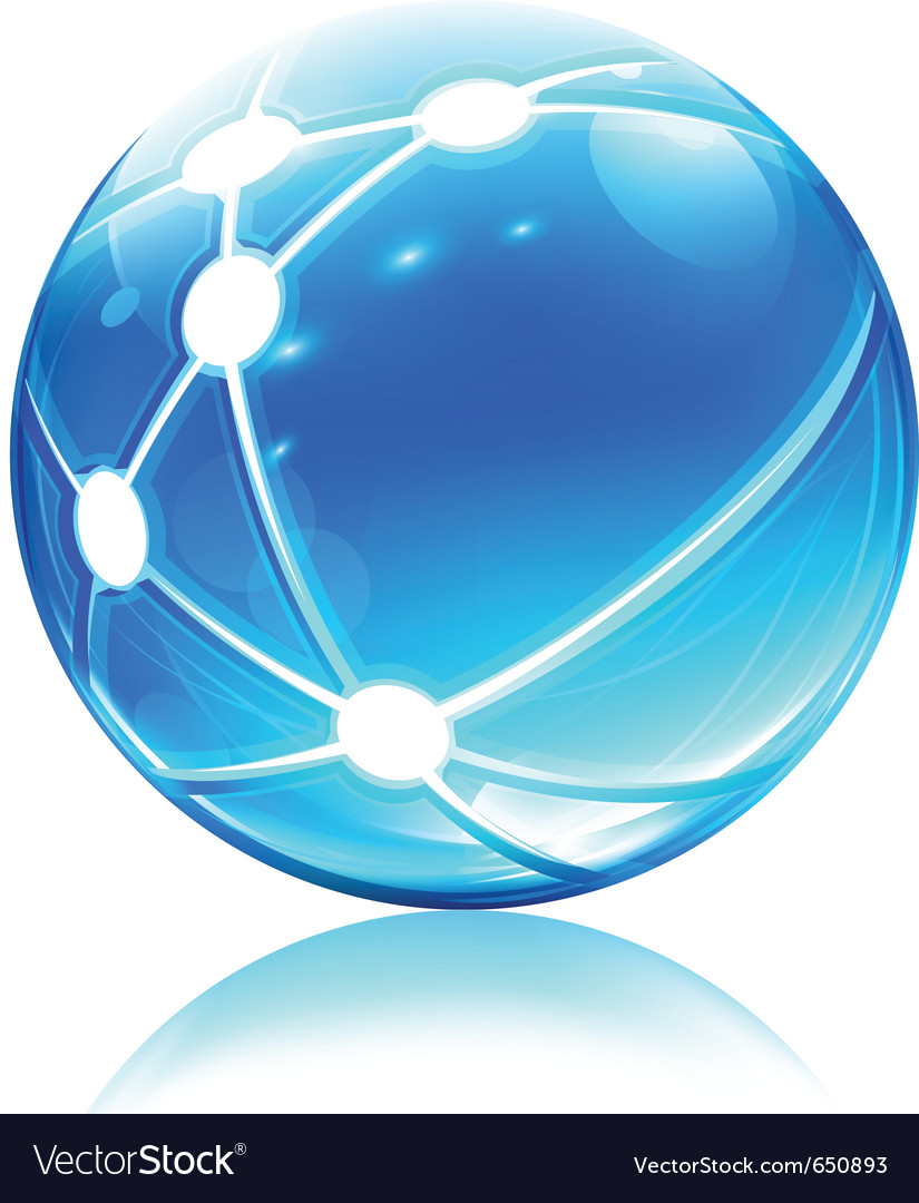 Network sphere icon vector image