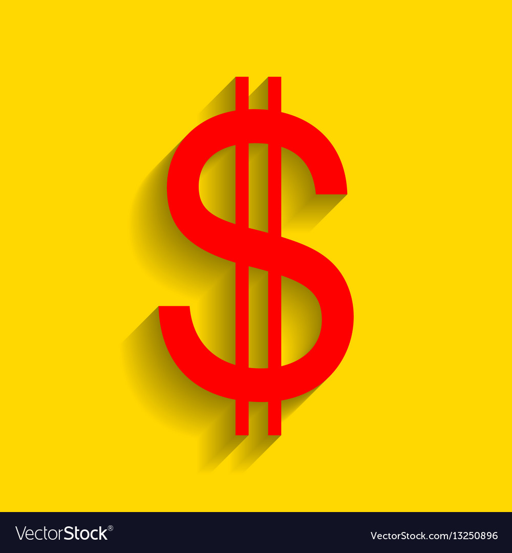 United states dollar sign red icon with royalty free vector united states dollar sign red icon with vector image biocorpaavc