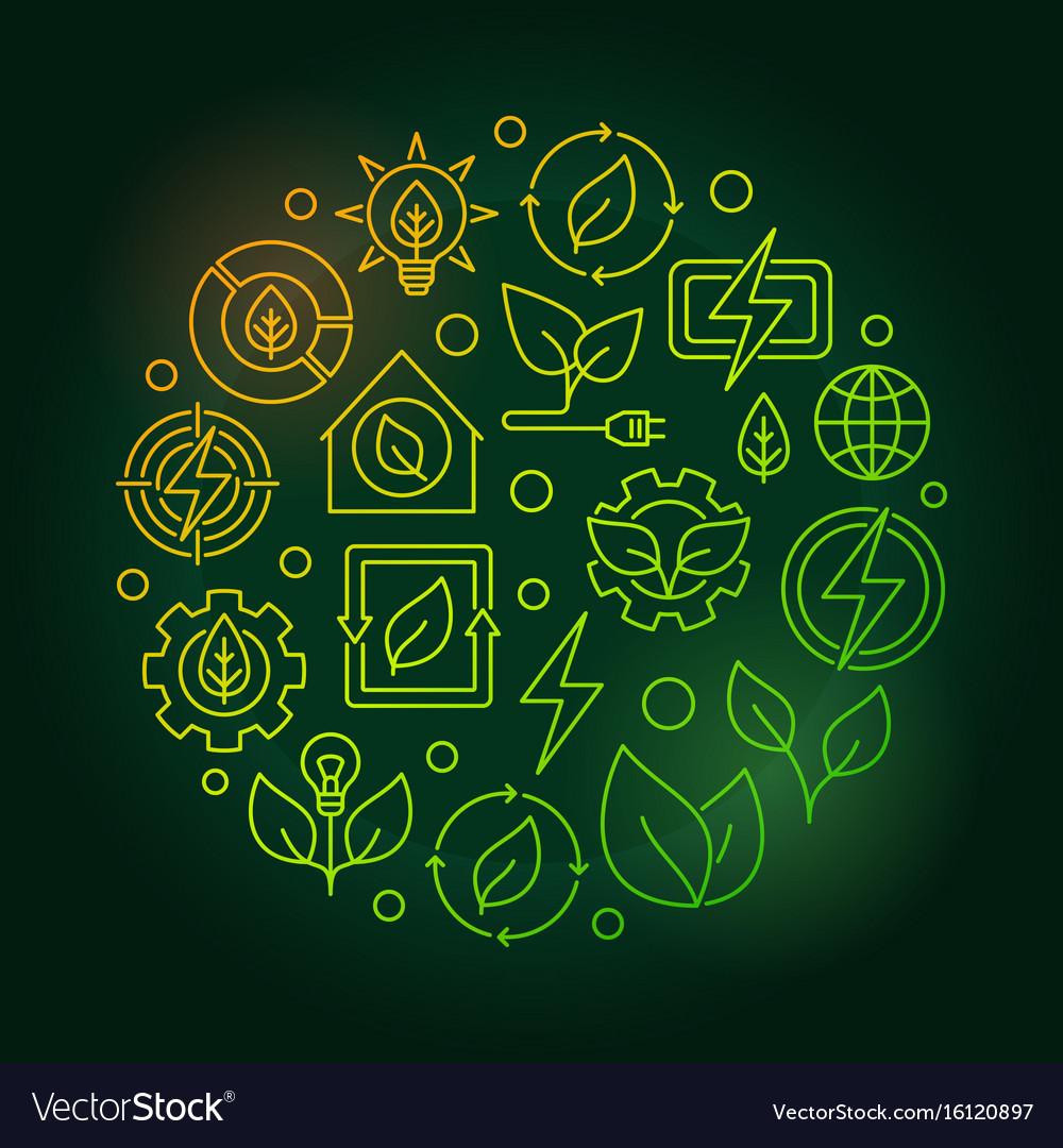 Bioenergy circular green vector image