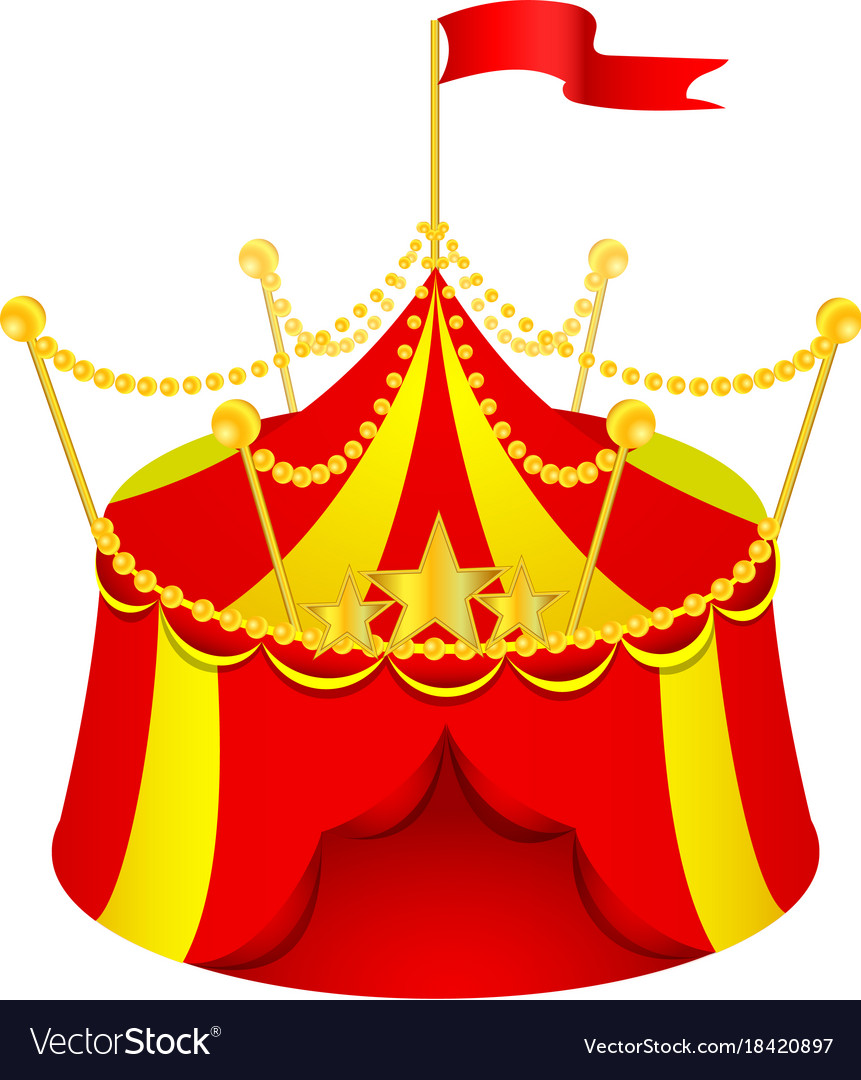 Cartoon circus tent vector image  sc 1 st  VectorStock & Cartoon circus tent Royalty Free Vector Image - VectorStock