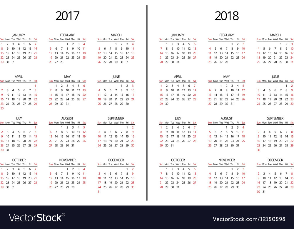 Calendar Pages Vector : Year and calendar page simple royalty free vector