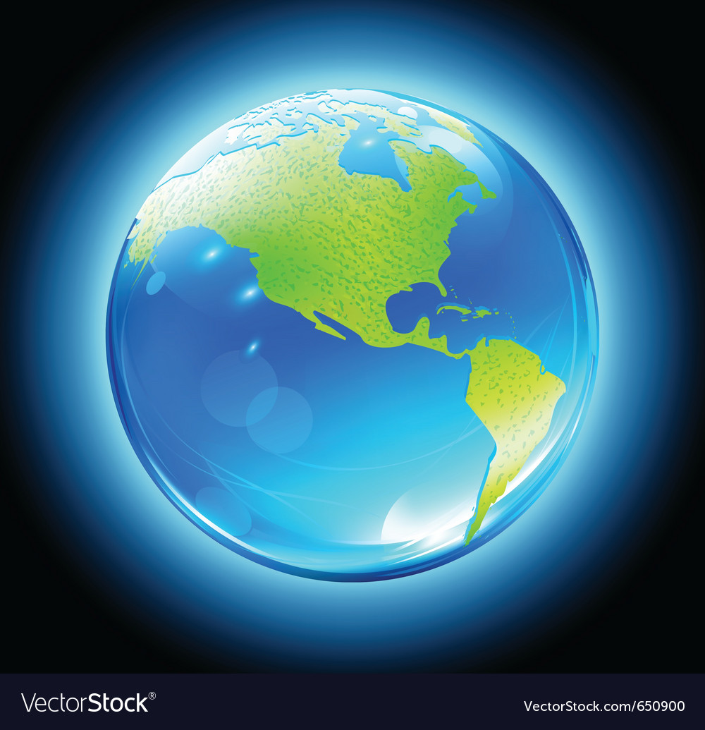 Earth map globe vector image