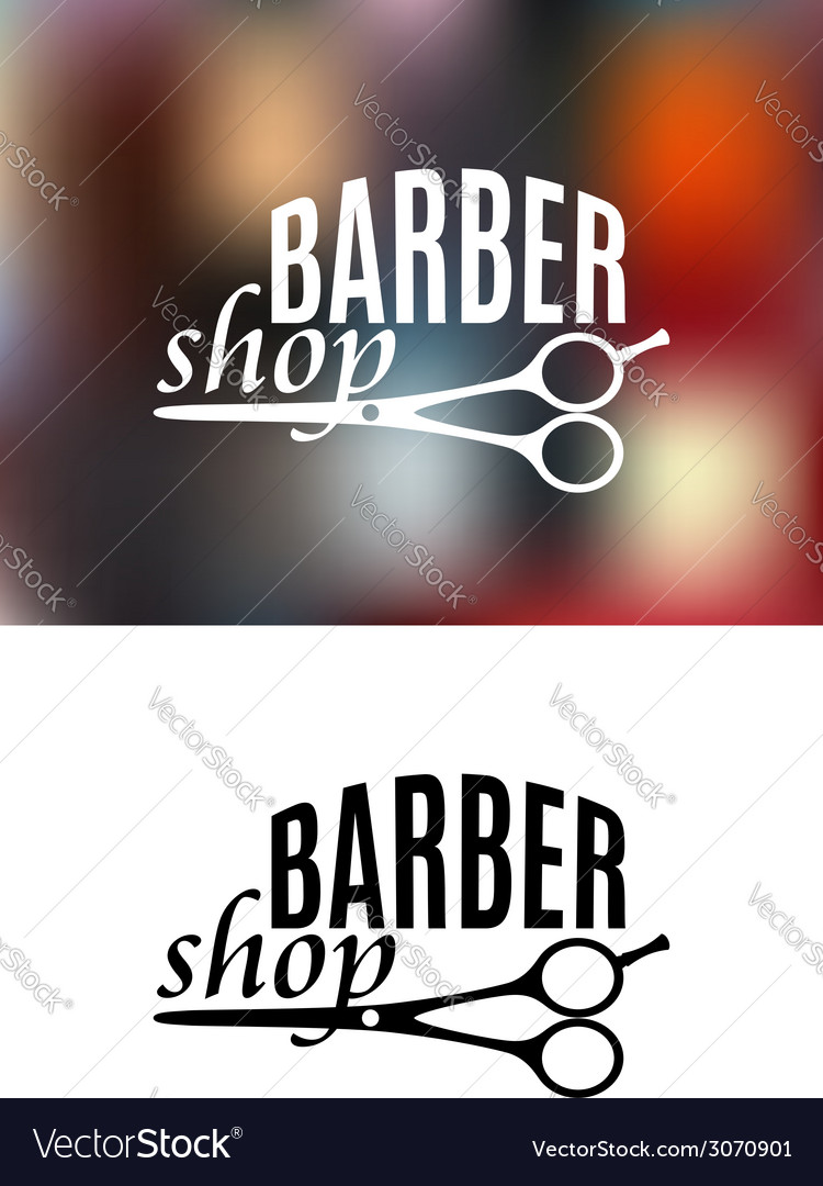 Barber shop sign design vector image