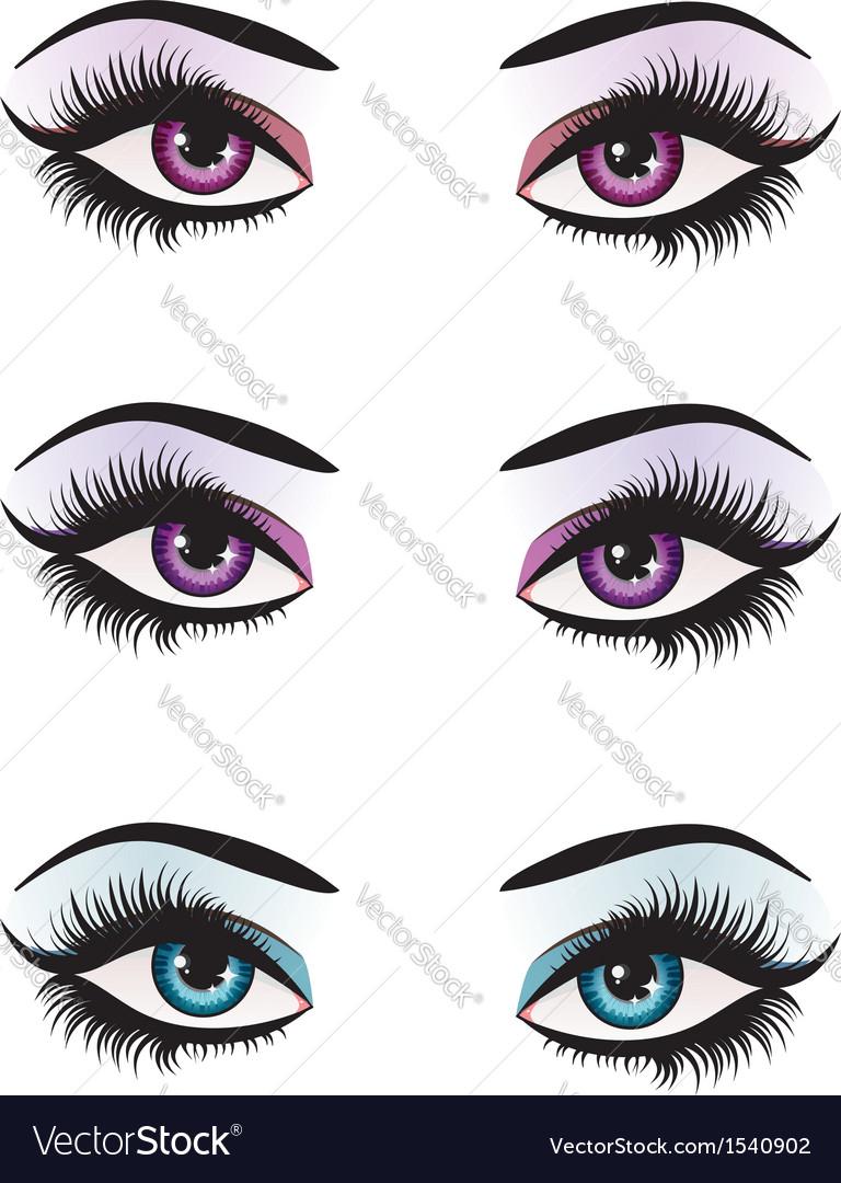Fantasy eyes makeup vector image