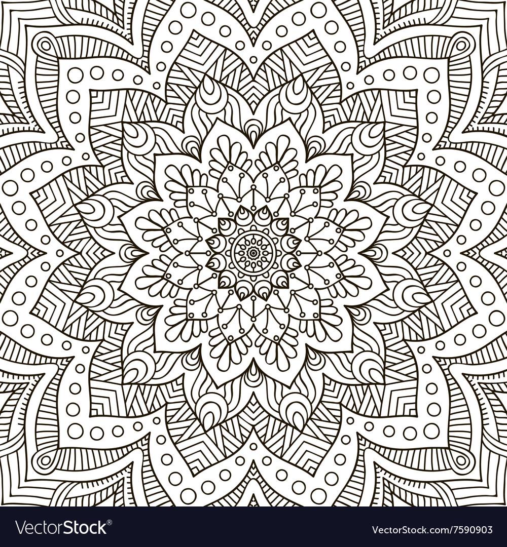 Mandala Coloring page vector image
