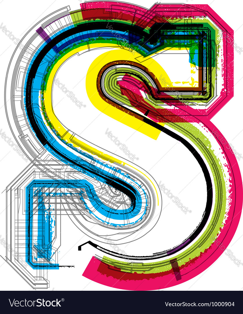 Technical typography vector image