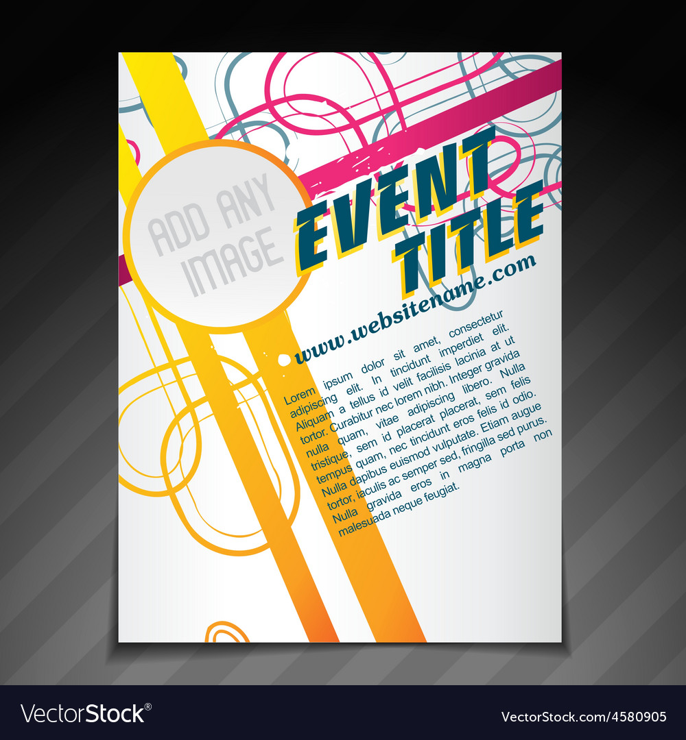 Event Brochure Template Royalty Free Vector Image - Event brochure template