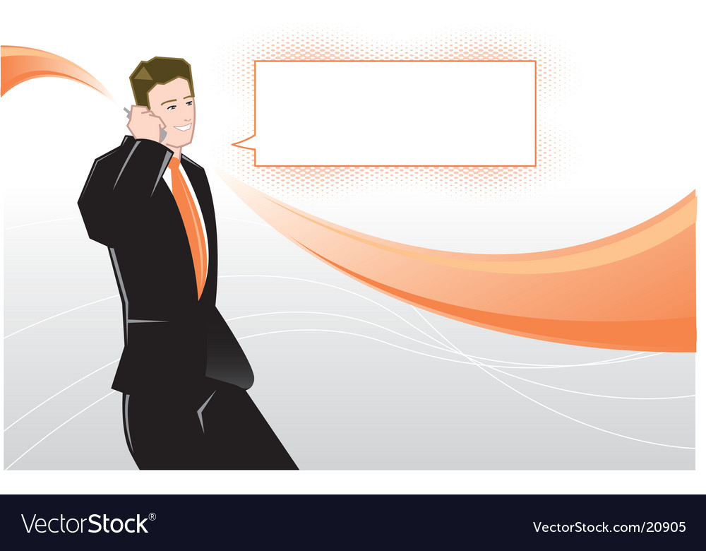 Stylized businessman vector image