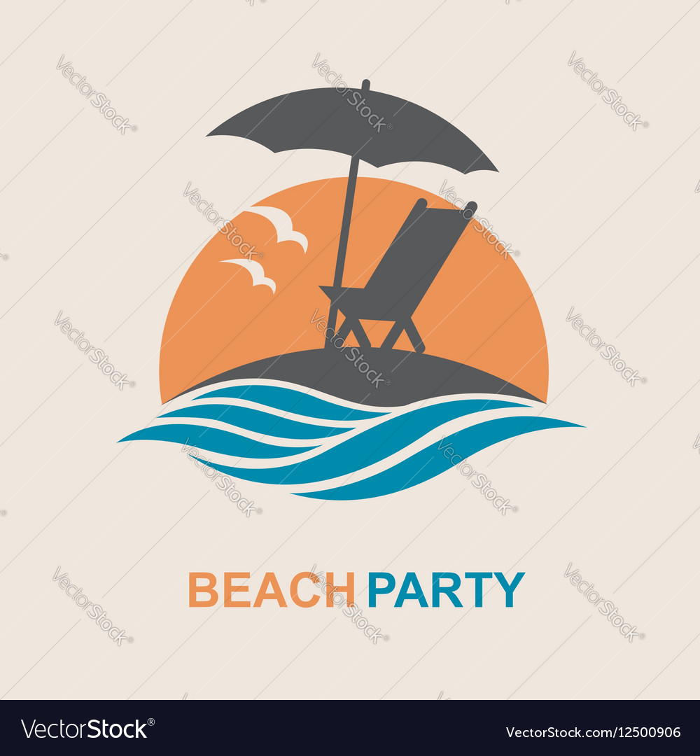 Emblem of summer vacation vector image