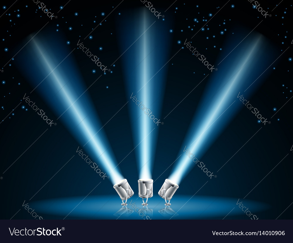 Search or spot lights vector image