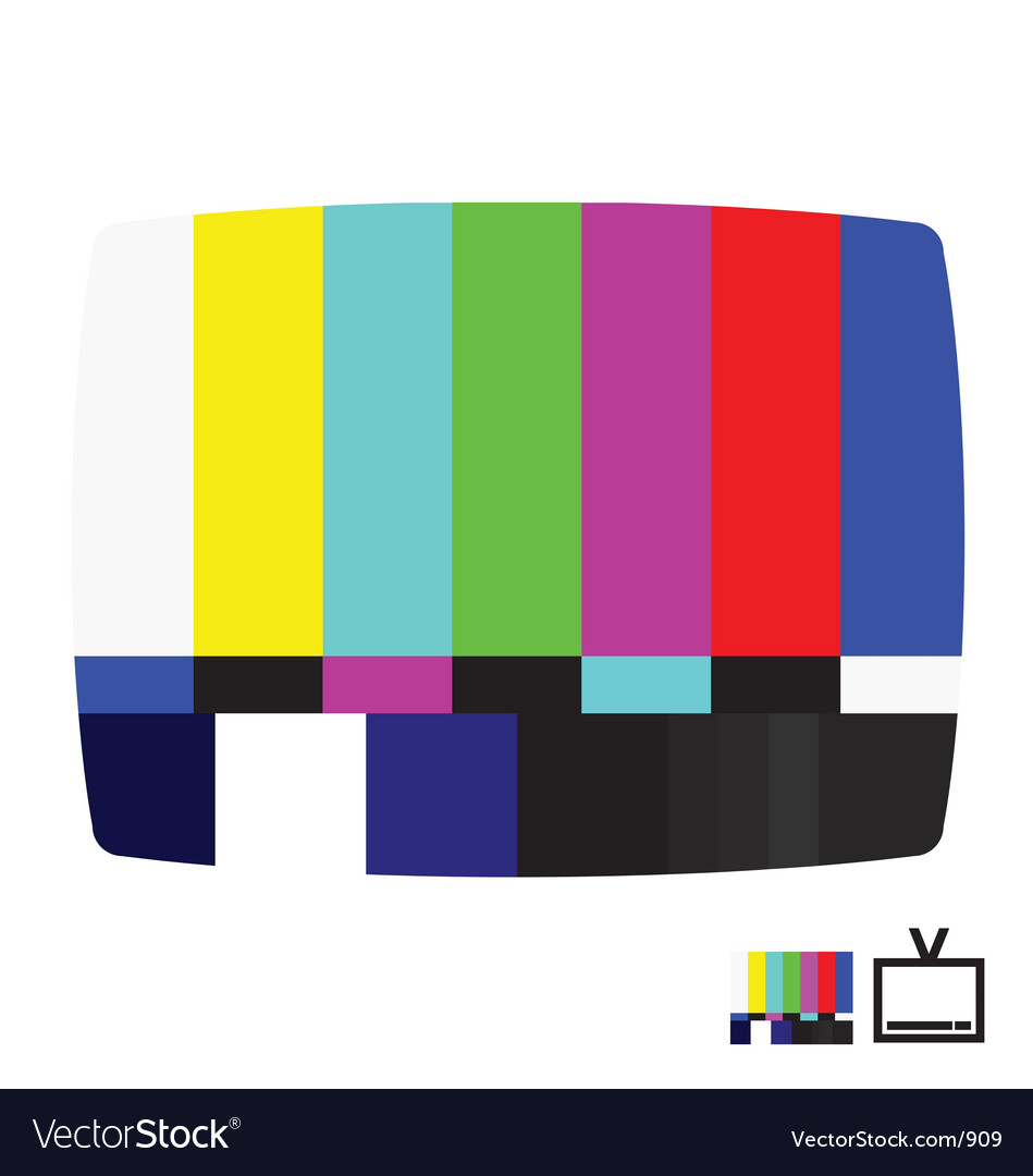 Smpte color bars vector image