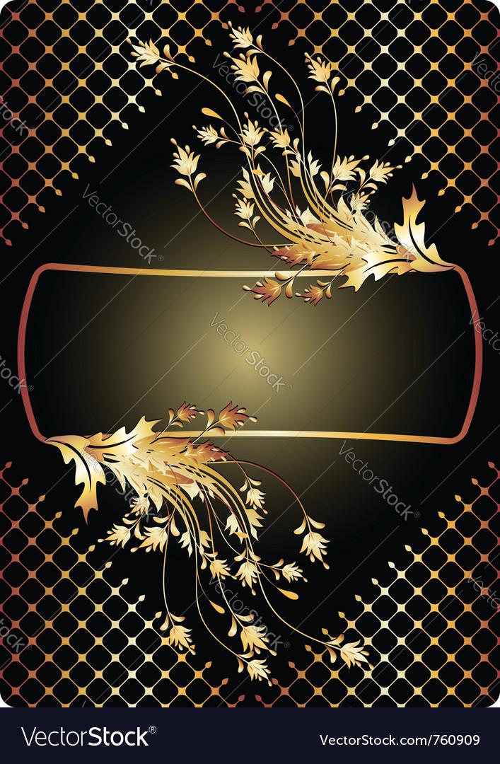 Golden ornament vector image