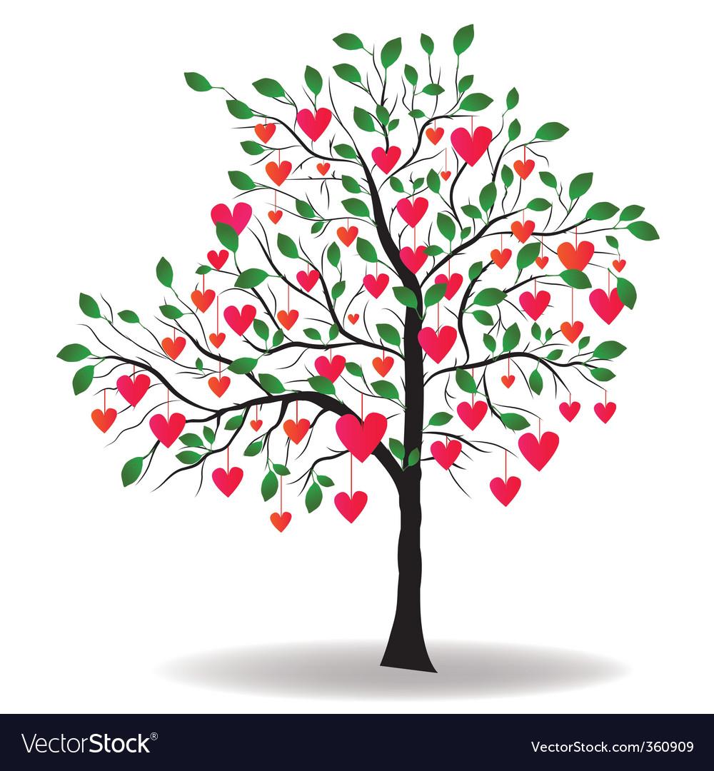 Schön Valentine Tree Vector Image
