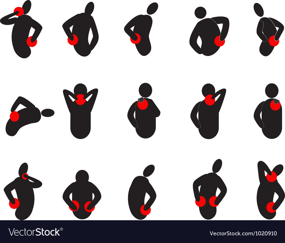 Human with pain dots vector image